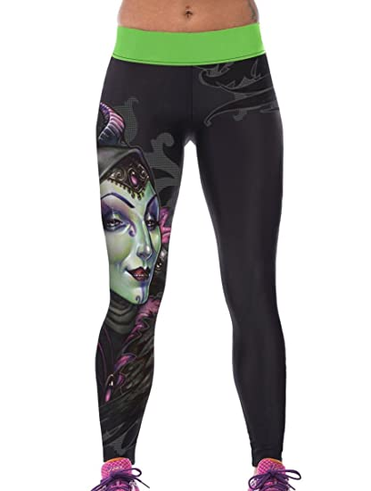 08e296812ebb5 Amazon.com: RedBeana Women Witch Print Workout Yoga Leggings Tight Pants  Multi Color One Size: Clothing