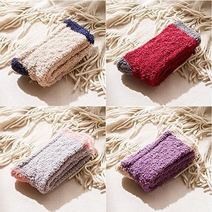 Piso calcetines adulto coral felpa lana calcetines camisa chica caliente en invierno dormir más gruesa de