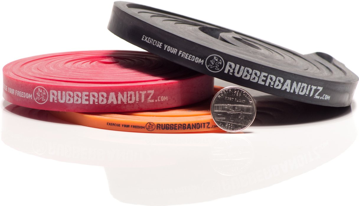Rubberbanditz Pull Up Assit Bands | Heavy Duty Resistance Exercise Bands for Powerlifting, Mobility, and Stretching (5-50 lbs)