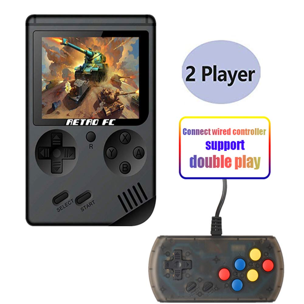 Hangyuan Retro Handheld Classic Game Console F-C System Plus Extra Joystick Video Game Consoles Built-in 168 Classic Games by Hangyuan (Image #1)