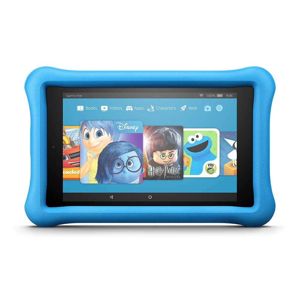 All-New Fire HD 8 Kids Edition Tablet, 8'' HD Display, 32 GB, Blue Kid-Proof Case by Amazon