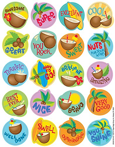 Eureka Coconut Stickers, Scented (650919)