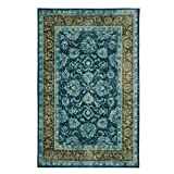 Cheap Mohawk Home Prismatic Worcester Teal Distressed Floral Precision Printed Area Rug, 8'x10′, Teal and Green