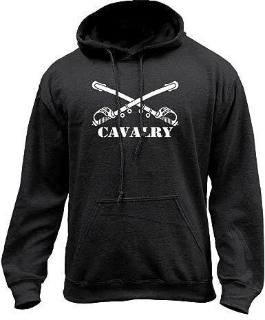 United States Army Veteran 1st Cavalry Mens Polyester Hoodie Pullover Hooded Sweatshirt