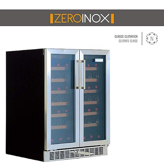 ZeroInox Nevera de Vino Doble ventilado 58,8 litros para ...