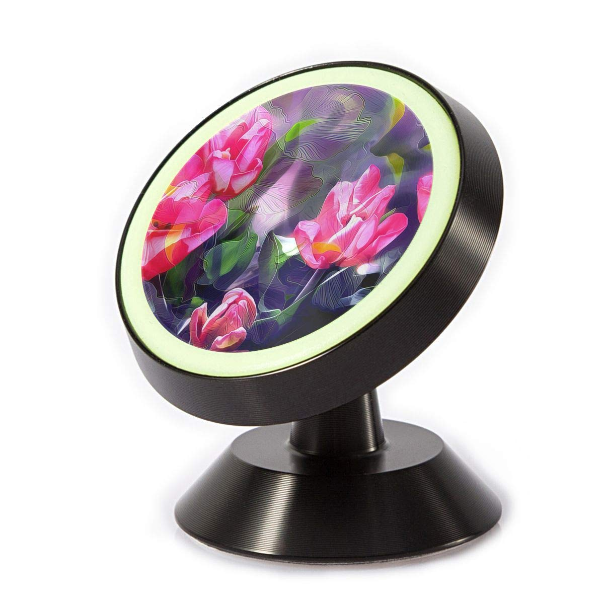 Magnetic Car Phone Holder Flower Picture 360 Degree Rotating Stand Grip Mount for iPhone X / 8/8 Plus 7/7 Plus / 6s / 6 / Galaxy S8 / S7