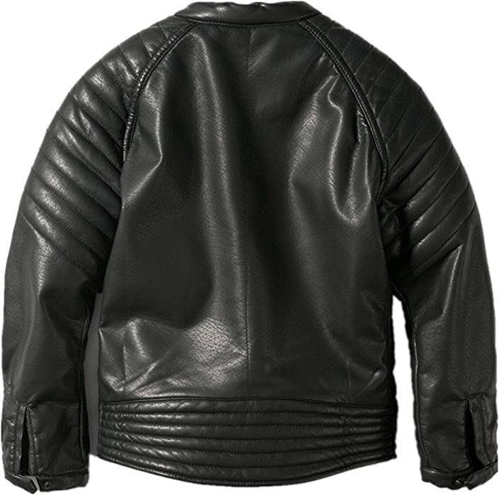 74adf2fad00e7 Amazon.com  LJYH Boys Faux Leather Jacket Children s Collar ...