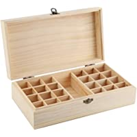 Storage Box, Wooden Storage Box Organizer for Essential Oil Aromatherapy Container Jewelry Treasure, Essential Oil Box