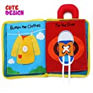 beiens 9 Theme My Quiet Books - Soft Activity Books for Baby /Toddler Learning Story Book Life Education, Learning to Sensory Book & Identify Skill Boys and Girls, Baby Book , Cloth Book