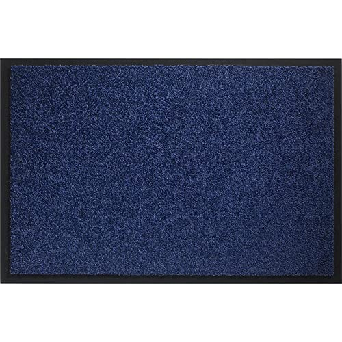 id mat 608005 mirande tapis paillasson fibre nylonpvc caoutchout bleu marine 80 x 60 - Tapis Bleu Marine