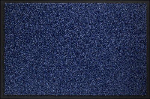id mat 608005 mirande tapis paillasson fibre nylonpvc caoutchout bleu marine 80 x 60 x 09 cm amazonfr cuisine maison - Tapis Bleu Marine