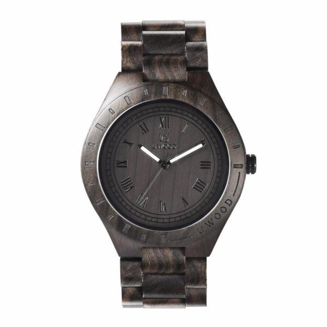Sonmer Uwood Unique Luxury Black Natural Wood Men Quartz Watch