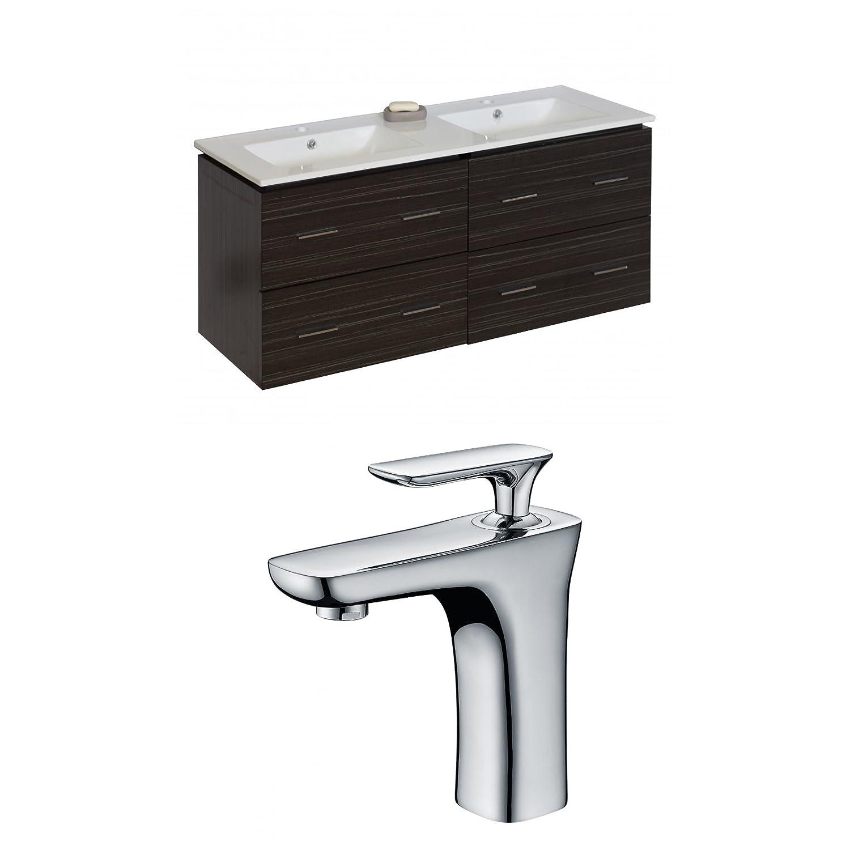 "hot sale 2017 Jade Bath JB-8465 48"" W x 18"" D Plywood-Melamine Vanity Set with Single Hole CUPC Faucet, Dawn Grey"