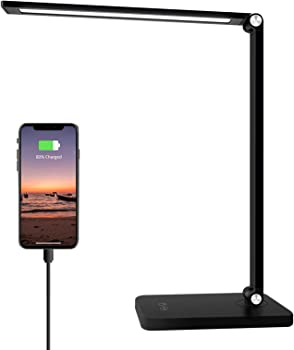 Samuyang LED Desk Lamp with USB Charging Port
