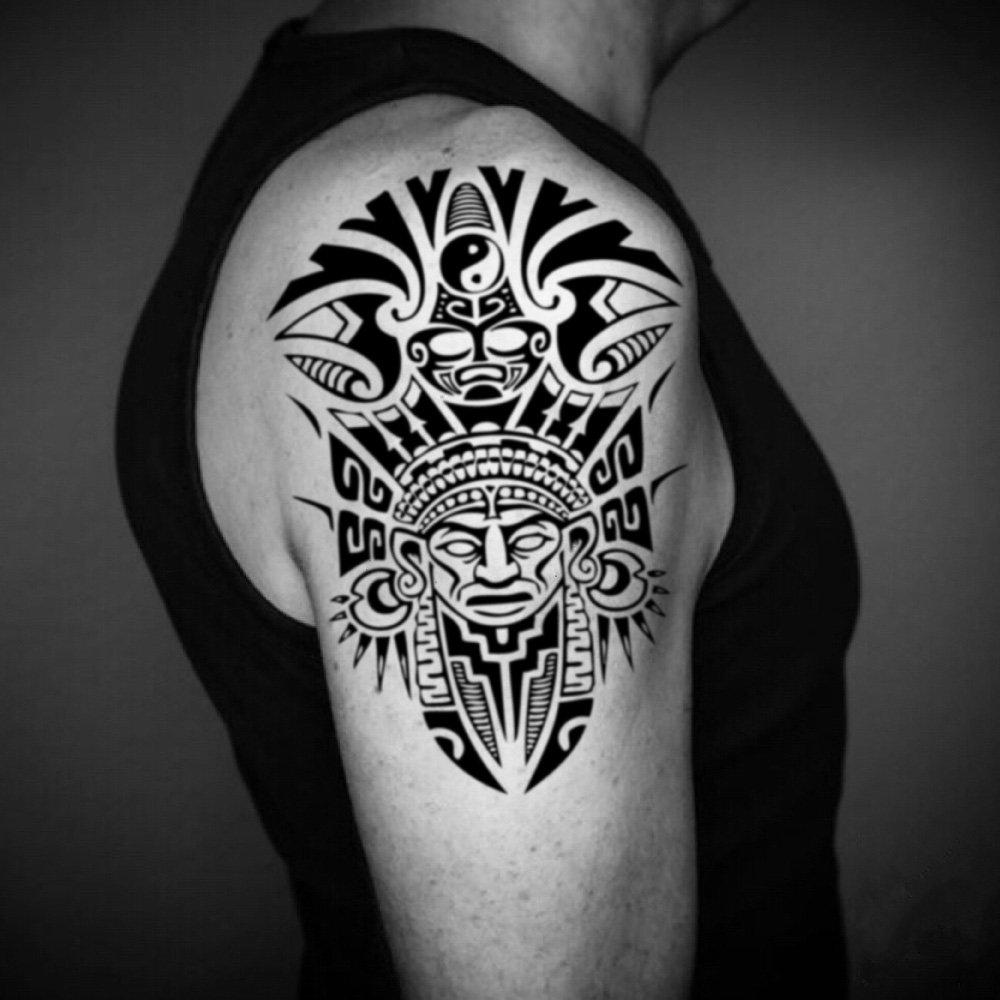 Tatuaje Temporal de Media manga azteca (2 Piezas) - www.ohmytat ...