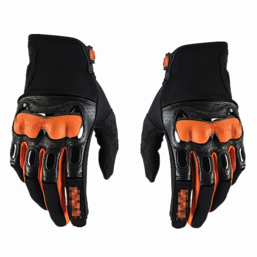 Sporthandschuhe aus Hartkautschuk Knöchel Vollfingerhandschuhe für Motorrad Radfahren Klettern Wandern Jagd Sport Outdoor Gear Handschuhe Gelb-l