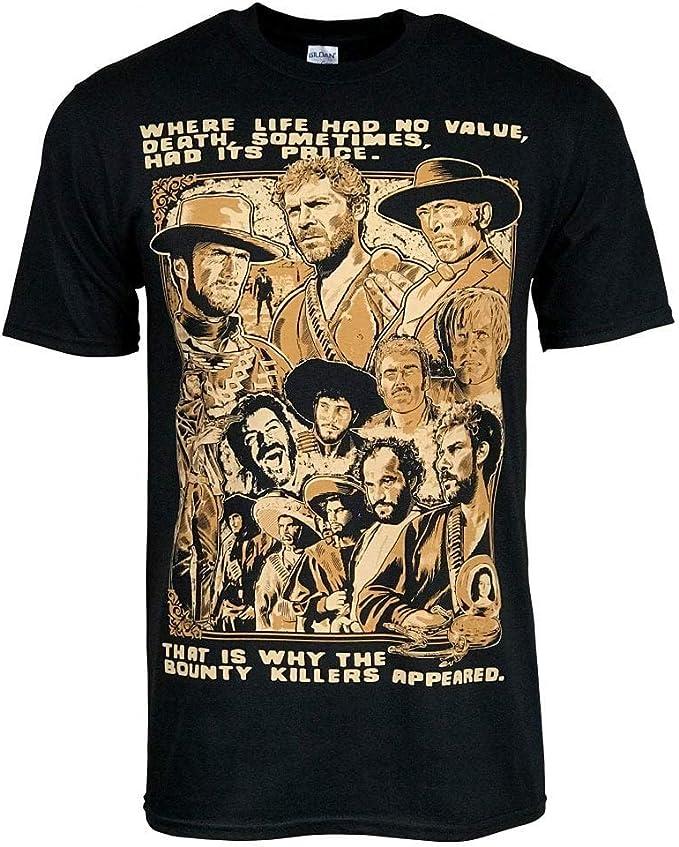 Clint Eastwood Lee Van Cleef Western Retro Movie Art - Camiseta - Negro - XXL-Pecho 122/127 cm: Amazon.es: Ropa y accesorios