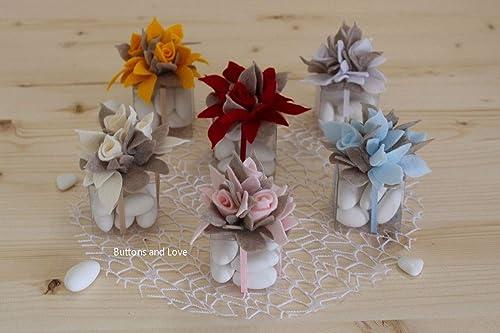 Origami Segnaposto Matrimonio.Un Pezzo Scatolina In Pvc Con 9 Confetti Classici Bouquet