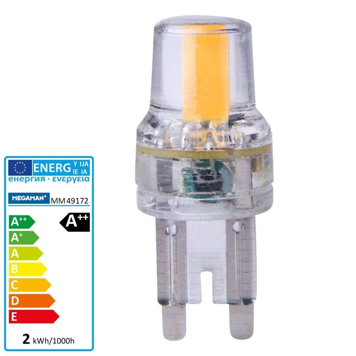 Megaman - Bombilla LED G9 2 W filamento Bombilla Halógena para patillas lámpara a + +: Amazon.es: Iluminación