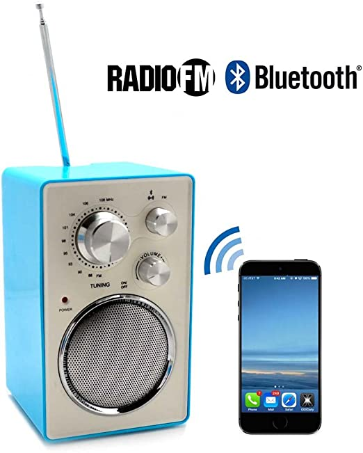Radio FM trendy con collegamento bluetooth per smartphone, tablet ...