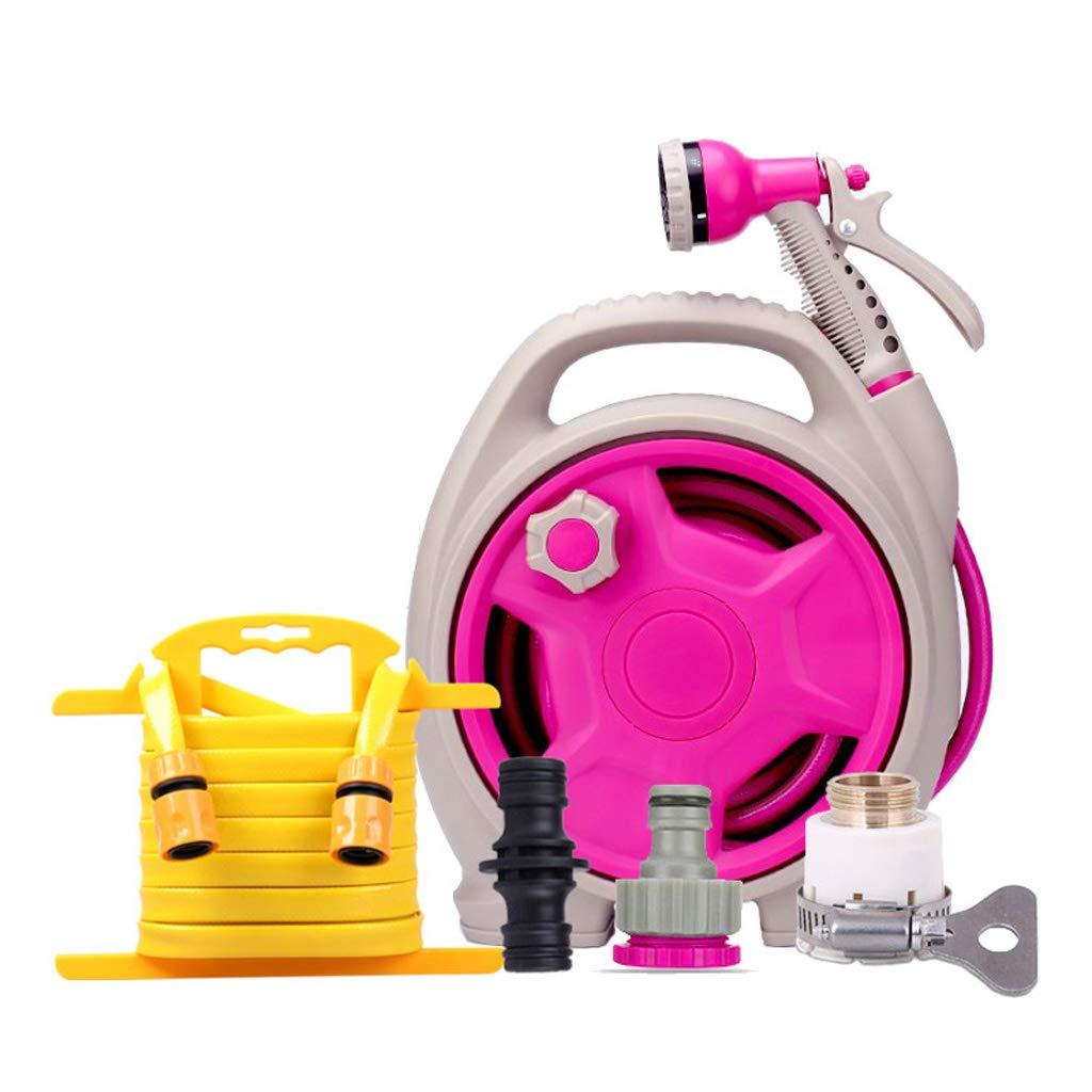 高圧力水銃ノズルホースストレージフレームセットツールは、家庭の屋内屋外ガーデニングに適して洗浄灌漑洗車親子の相互作用 (色 : ローズレッド, サイズ さいず : 13.5m+10m) B07JG9YQGZ ローズレッド 13.5m+10m