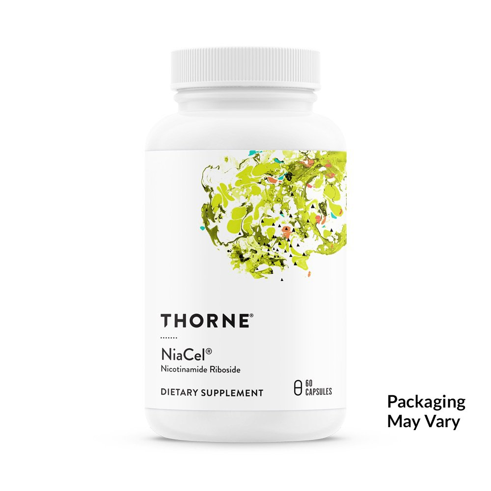 Thorne Research - NiaCel - Nicotinamide Riboside Supplement with ChromaDex's Niagen - NSF Certified for Sport - 60 Capsules