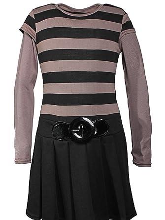 Weberfashion Schwarz 92 Kleid 98Langarmkleid Mädchen 86 7Ybgyv6f