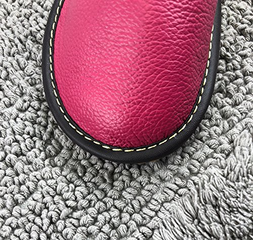 Maison Confortable Texture Pantoufles Luxe Rose Mules Femme Glissant Souple OSVINO Anti Fluidale Mode Cuir Bureau Homme xzYqvwp