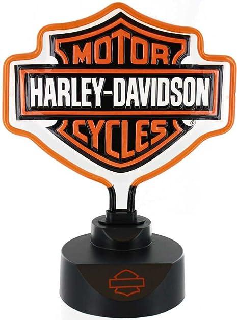 Harley davidson bar shield neon lamp 14 12inh amazon harley davidson bar shield neon lamp 14 12in audiocablefo