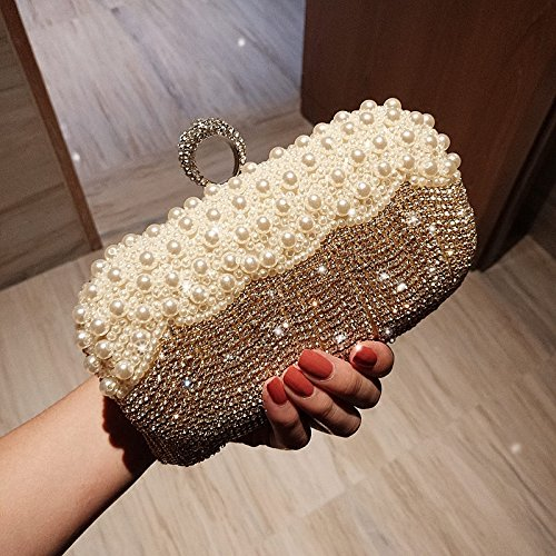 Fashion Strass Silver Exquis Gold Nuptiale GZHGF Cadeaux Bag 'Evening Mariage Ladies qzH8OT