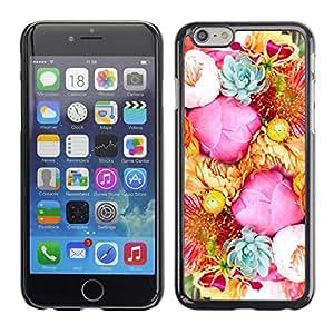 [Neutron-Star] Snap-on Series Teléfono Carcasa Funda Case Caso para Apple (4.7 inches!!!) iPhone 6 / 6S [Flores de la flor rosada Basket Azul]