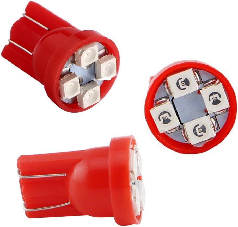 TABEN 10pcs T10 LED Car Light Bulbs Amber W5W 194 192 168 2825 LED Car Replacement Bulbs Side Marker Dome Map Interior Lights Car RV SUV Truck LED Light 12V