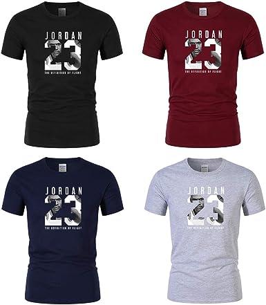 Jordan 23 Hombre algodón Camiseta,4 Pieces: Amazon.es: Ropa y accesorios