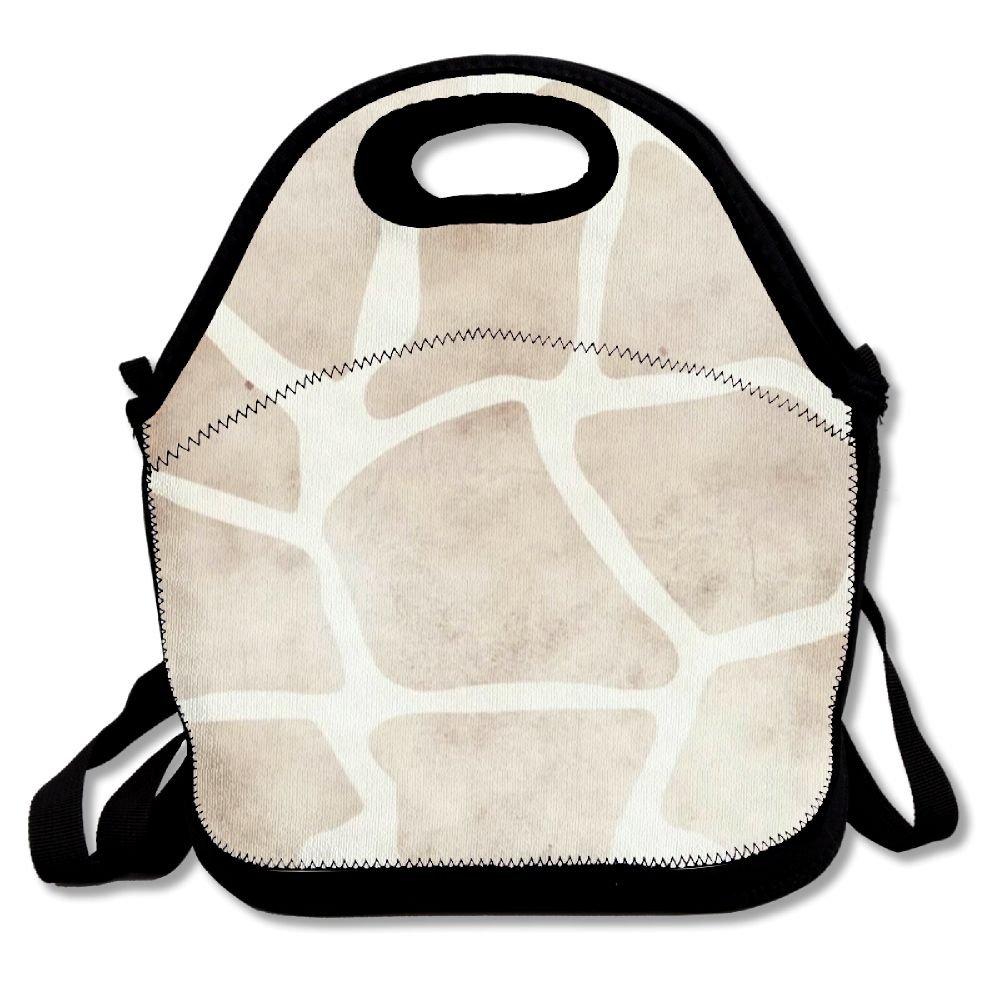 Patrón de la jirafa bolsa para el almuerzo bolso suave caja ...
