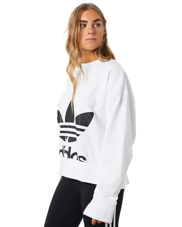 adidas Sweater Felpa Bianca da Donna EC5777: Amazon.it