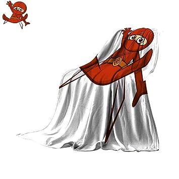 Amazon.com: Angoueleven Soft Blanket Microfiber Superhero ...
