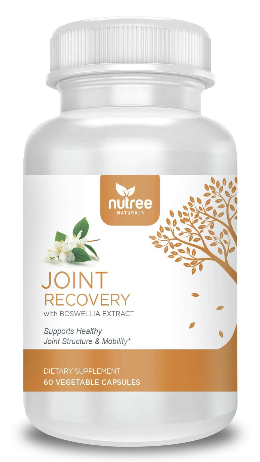 Joint Recovery Supplement with Glucosamine Chondroitin Turmeric MSM Boswellia - 60 Veggie Caps - 10 Trees Planted