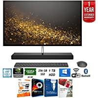 HP Envy 27-b120 Intel i7-7700T 256GB SSD 27 UHD All-in-One Desktop Computer + Elite Suite 17 Standard Software Bundle (Corel WordPerfect, PC Mover, PDF Fusion, X9) + 1 Year Extended Warranty