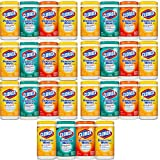 Clorox Disinfecting Cleaning Wipes Value Pack, Crisp Lemon Scent, Fresh Scent and Orange Fusion Scent, 75 Wipes each, 7-Pack ( 28ct )