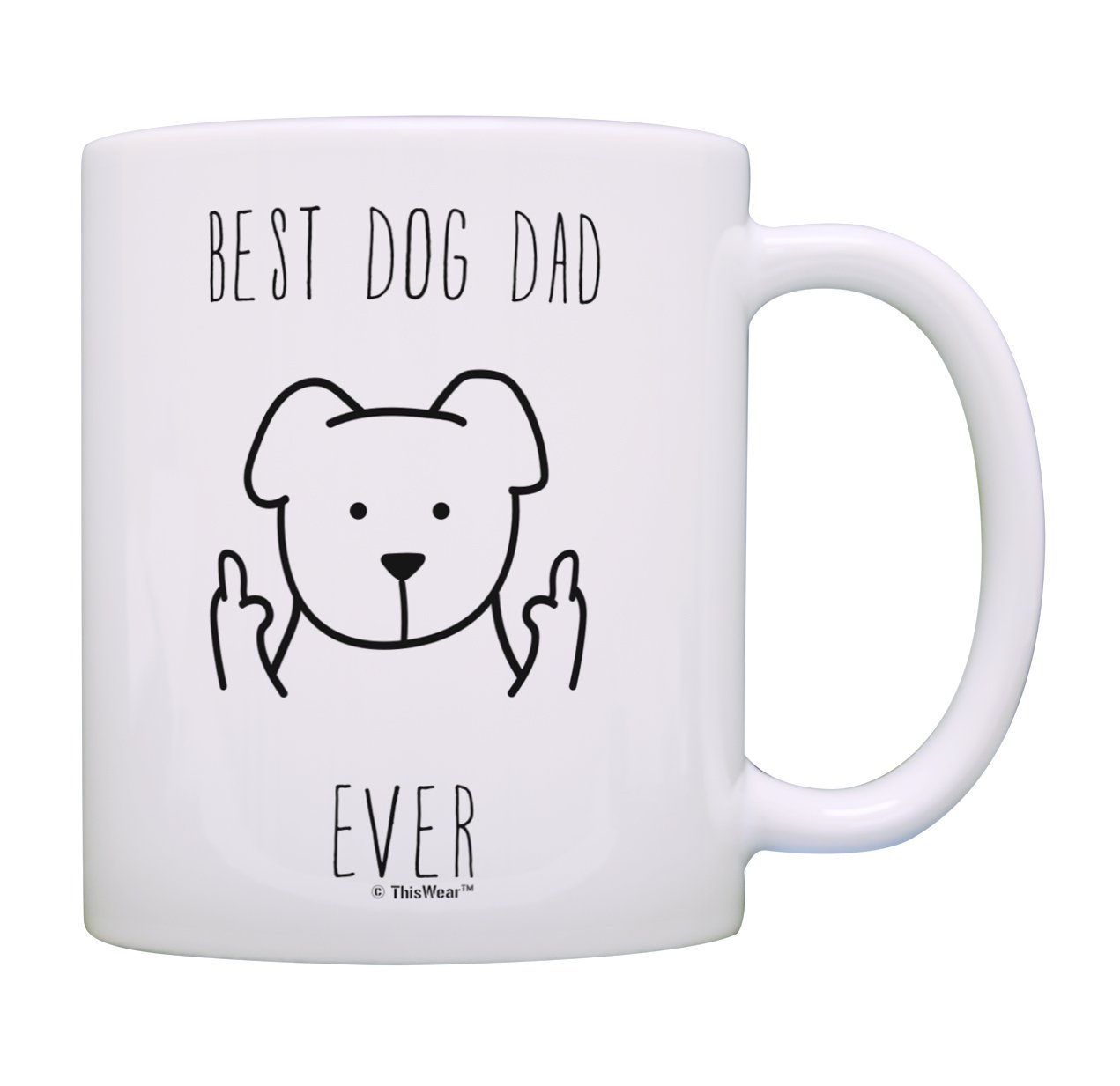 Best Dog Dad Coffee Mug Best Dog Dad Ever Mug Fathers Day Gifts from Dog Related Gifts Dog Gift for Men Rescue Dog Dad Gift Coffee Mug Tea Cup Dog Dad