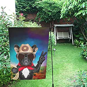Happy More Bandera doble de jardín con diseño de perro de peluche de 30 x 45 cm