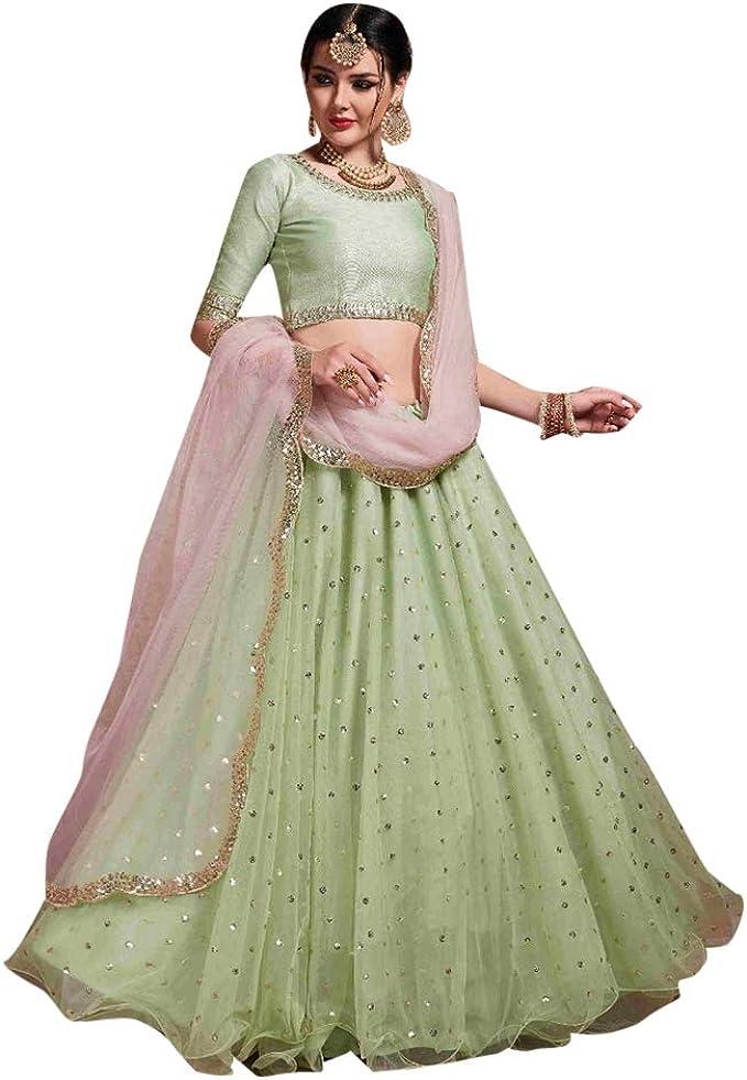 8521 Designer Bridal Lehenga Choli Gharara Dupatta Skirt Falda ...