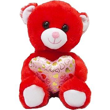 b0bb70113d5 Amazon.com  HollyDel (2X Pack Valentine s Day Red Teddy Bear Plush ...