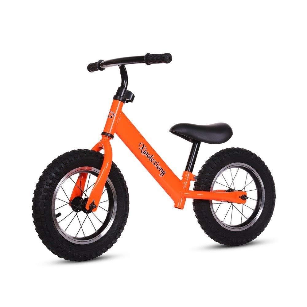 naranja MEILA Equilibrio infantil No Pedal Bicicleta Ligera Equilibrio Bicicleta Equilibrio Entrenamiento Bicicleta Asiento ajustable Deporte Caminante de empuje Empuje Bicicleta Camina Bicicleta Niños Primer Foam wheel