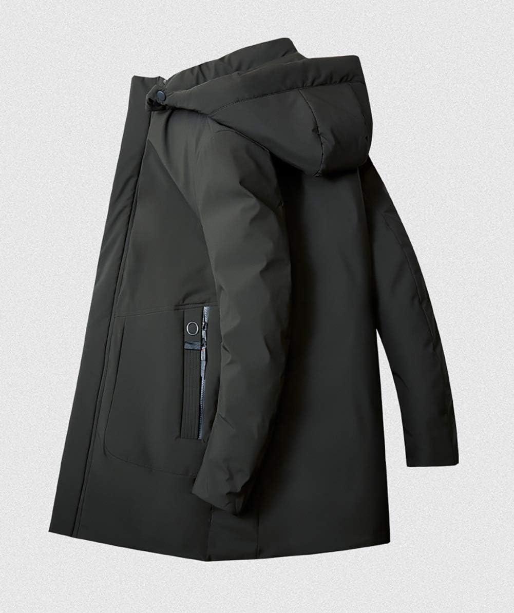 YZY Doudoune Homme, Loisirs De Plein Air Grande Taille Manteaux Vêtements D'extérieur Épais Veste À Capuche Chaude en Hiver Green