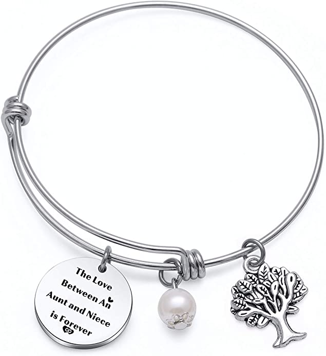 TzrNhm Blossom Aunt Niece Bracelet The Love Between an Aunt and Niece is Forever Aunt Birthday Gifts