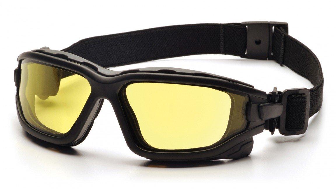 (12 Pair) Pyramex I-Force Glasses Black Strap-Temples/Amber Anti-Fog Lens (SB7030SDT)