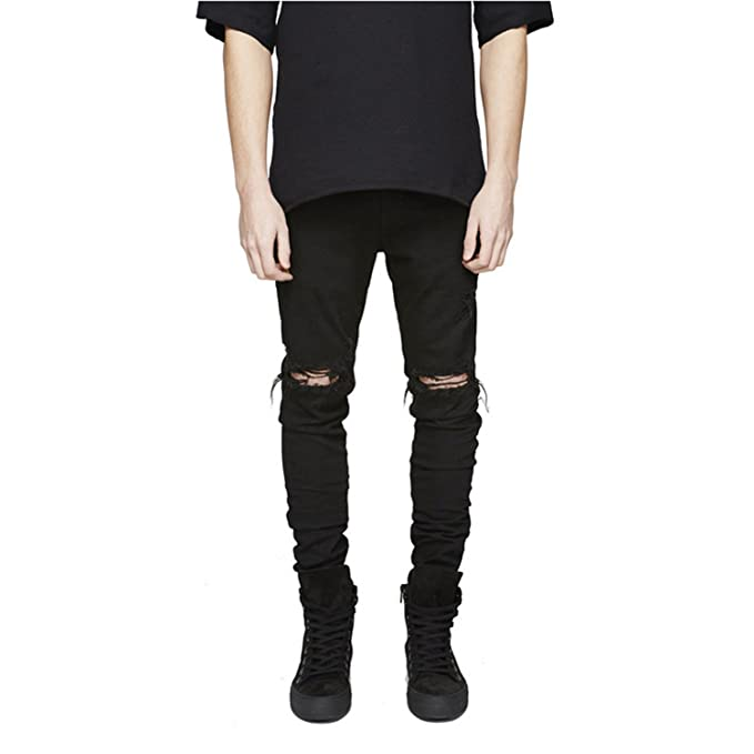 Amazon.com: Cyose Fashion Hole Pants Jogger Pants Jeans Man ...