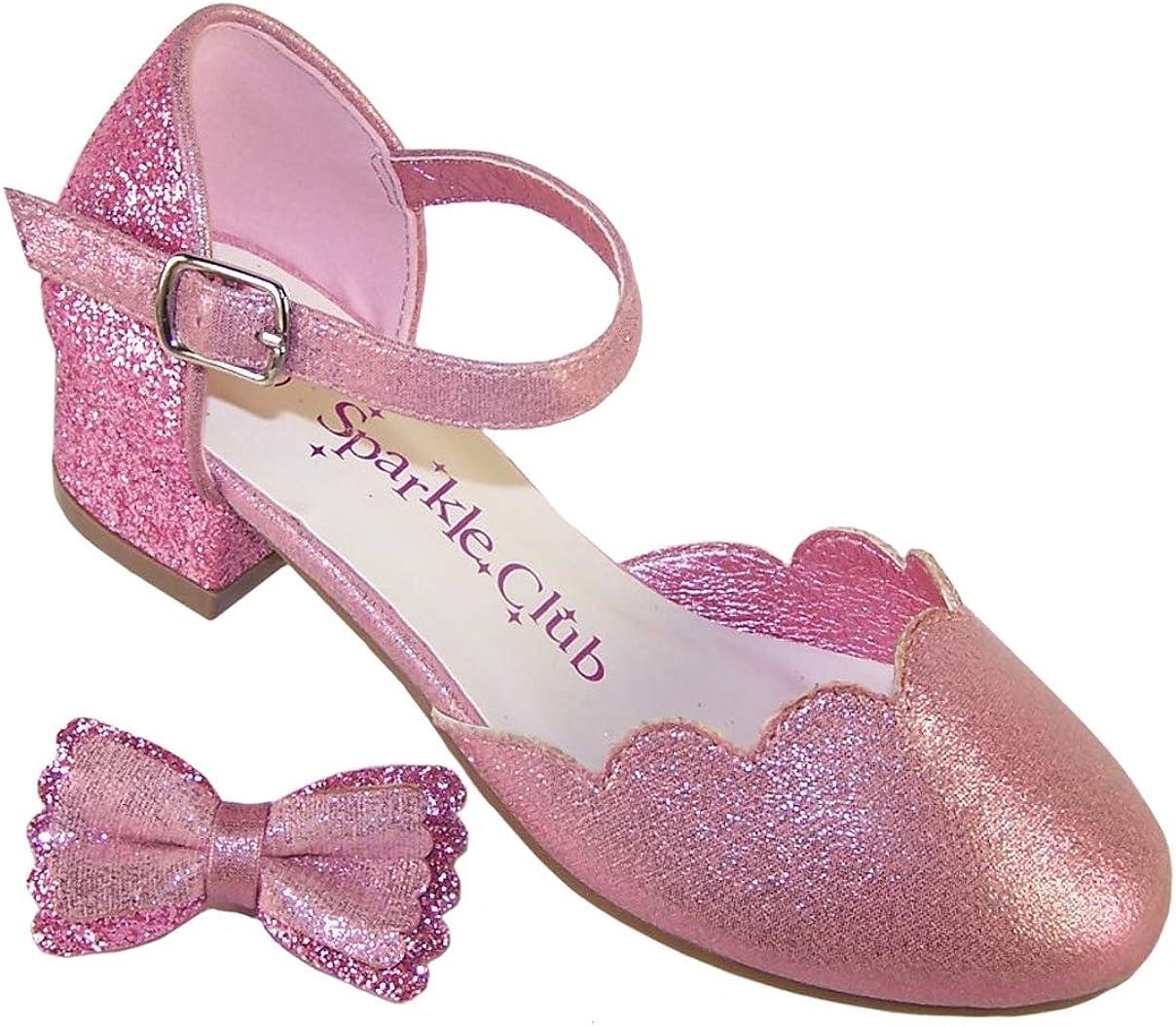 Sparkle Club Chaussures /à Talons avec n/œud d/étachable Rose Scintillant