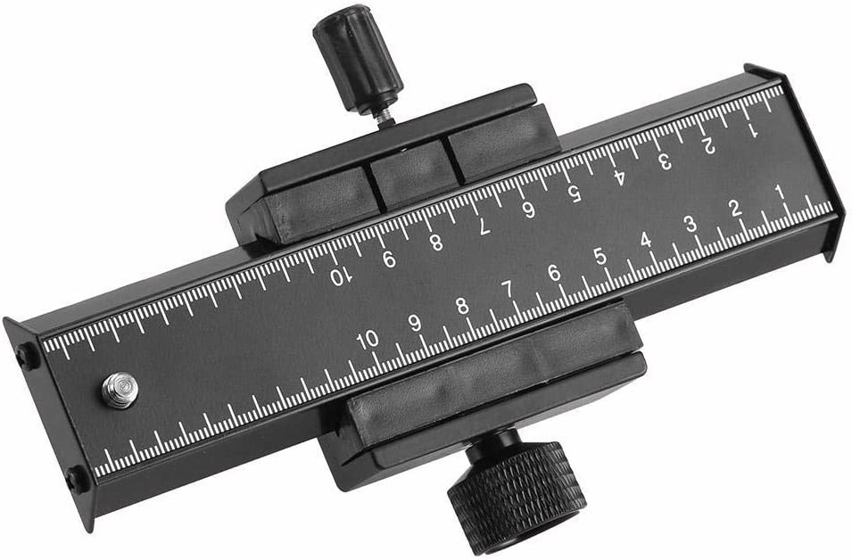 Wandisy Long Focusing Macro Close-Up Quick Rlease Plate Slide Rail for DSLR Cameras